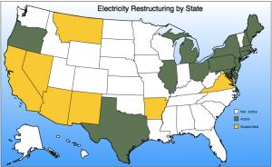 Deregulated US electricity markets