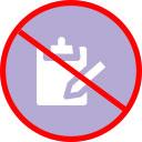 No clipboards