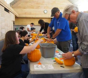 Team PhD hard at work carving